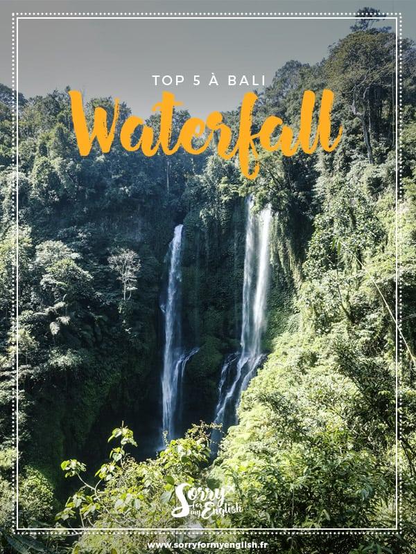 Top 5 des plus belles cascades à Bali