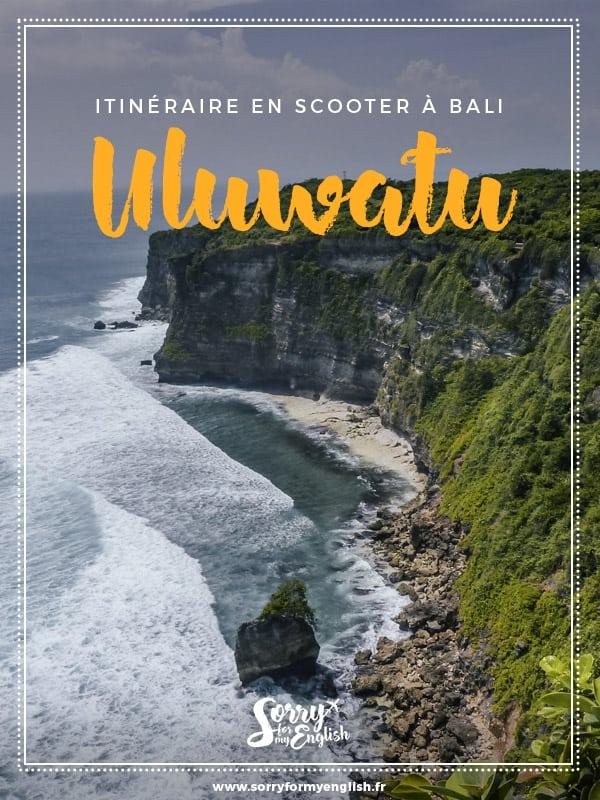 Itinéraire sur les plages de Uluwatu au sud de Bali